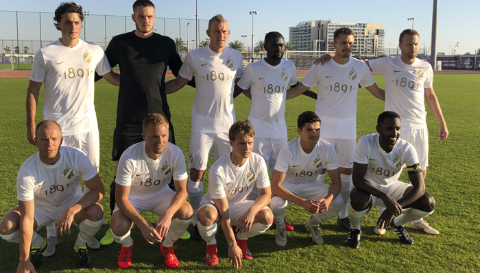 AIK team picture before the draw with New York City FC