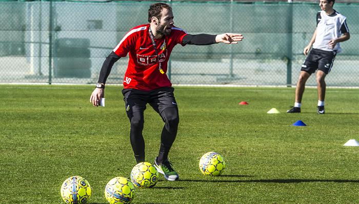 Andreas Alm in action at Jebel Ali