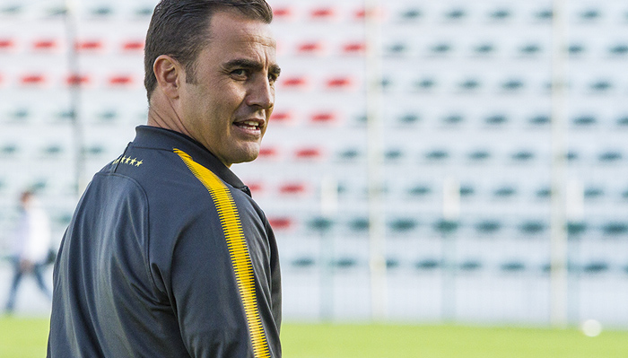 Fabio Cannavaro, the world best player in 2006 is manager for the Chinese Champions